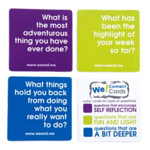 We! Connect Cards - Question Color Code