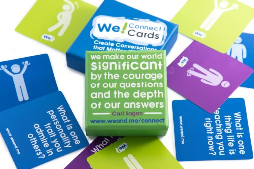 We! Connect Cards Carl Sagan quote